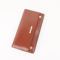Male bank card bag male long design genuine leather wallet multifunctional first layer of cowhide commercial wallet multi card