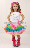 Hot sale Baby Girl multicoloured  fluffy Chiffon pettiskirts Girl's Cute dancing tutu Skirts mix color