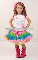 Hot sale Baby Girl multicoloured  fluffy Chiffon pettiskirts Girl's Cute dancing tutu Skirts mix color