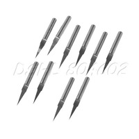 Free Shipping 10Pcs 10 Degree 0.1mm Carbide Engraving Bits CNC Router Tool for PCB Board