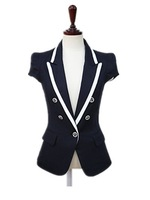 Summer Slim all-match Short-Sleeve Blazer , Short Jacket , Work Wear Female