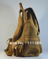 Men's/Women's Rare Crazy Horse Leather Backpack Laptop Bag Totes/Shoulder Bag Free Shipping