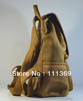 Men's/Women's Rare Crazy Horse Leather Backpack Laptop Bag Totes/Shoulder Bag Free Shipping