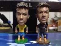 Free Shipping KODOTO Action Figure Models Santos 11 # Barcelona 11 # Brazilian National Team 10 # Neymar Doll About 7 cm
