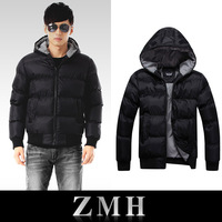 Free Shipping Men's black Waterproof parka Men's Coat for winter New Fashion 2013 Top quality weight 1kg M-XXXL