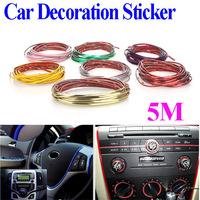 5M Car Auto Decoration Sticker Thread, indoor pater,Car Interior Exterior Body Modify Decal 8 Colors Drop Shipping