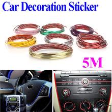 5M Car Auto Decoration Sticker Thread, indoor pater,Car Interior Exterior Body Modify Decal 8 Colors Drop Shipping(China (Mainland))