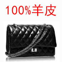 City life 2013 sheepskin women's bag fashion shoulder bag fashion female classic plaid chain 2.55
