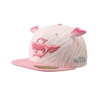 Smb hatson small wings pink zebra print baseball cap princess child