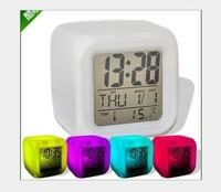 free shipping new Glowing Led Color Change Digital Alarm Clock calendar time temperature alarm clock decompression clock