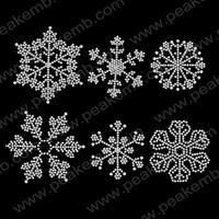 Shinning Snow Flake Hot Fix Stones Motif Iron On Heat Transfers Christmas Rhinestone Transfer Designs 30Pcs/Lot Free Shipping