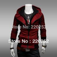 Men's Slim Hooded cardigan fleeces,Assassin's Creed Costume,Men's Slim Hooded cardigan garments,youth Men spring apparel Hoodies