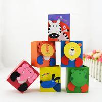 Free shipping hot selling new fashion cartoon Korea stationery square animal wooden pen holder storage box