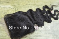 FREE SHIPPING Queen king 5X5 Bleached Knots free Part Lace Front Top Closure Body Wave human virgin brazilian hair closure