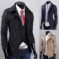 Free shipping 2013 New Korean Fashion Men Male Winter Trench,Coat,Short Jacket Overcoat,Outwear men's clothing,M-XXL,R1355