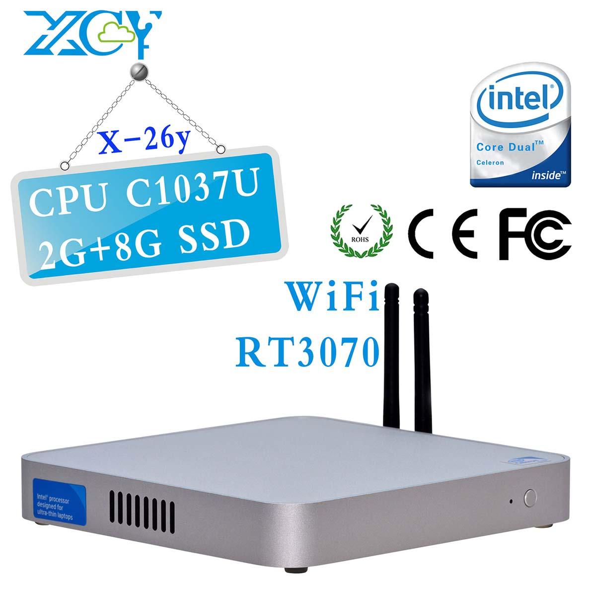 Mini pc windows intel motherboard linux windows embedded 2G RAM 8G SSD Intel NM70 Express Chipset Intel Celeron C1037U(China (Mainland))