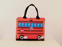 2013 New Fashion Designer Bus Shaped Canvas Bag Women Portable Shoulder Handbag Large capacity Casual bags