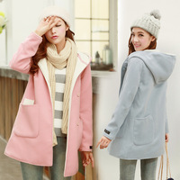 2013 fall and winter clothes new Korean Women woolen velvet plus big yards long section of thick woolen jacket coat
