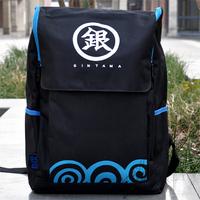Anime Gin Tama School Bag Silver Soul Backpack Black