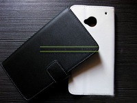 Genuine Real Leather Mobile Phone Case Cover with Credit Card Holder for HTC One M7 + Free Screen Film Capas Celular