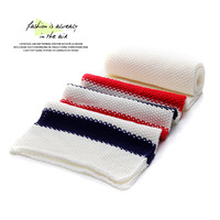 Fashion color block knitted scarf all-match general lovers yarn scarf d352s28