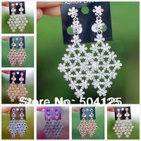 min.mix order is $10--  Crystal drop dangle earrings topshop chandelier statement snowflake rhinestone wedding luxury