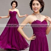 2014 New Arrival In Stock Straight Sweetheart Floor-Length Fold Criss-Cross Chiffon Evening Dress Formal Dress HoozGee 603
