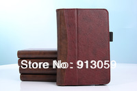 "Retail wallet card smart leather cover case for New Amazon kindle fire HD 2nd 7"" 1 pcs free shipping"