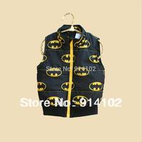 Free shipping Baby Waistcoat Autumn Boy's Outerwear Dark brown top Zipper Coat Vest Kids clothing 2-3 years