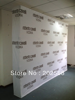 Free Shipping!!! Fabric Pop up Stand, Fabric Backdrop Banner wall W/Graphic Printing