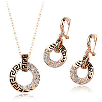 Italina Red Apple Champagne Gold plated fashion Jewellery set for women