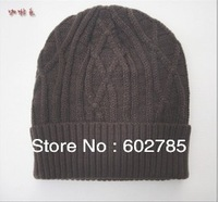 1pcs very warm -----2013 hot selling Korean version Winter hat, Fashionable for men and women knitting wool cap,Free shipping