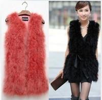 2013 ostracods turkey wool vest outerwear medium-long fur vest short design free shipping