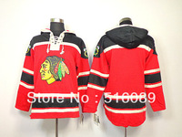 Free shipping Chicago Blackhawks blank red hoodies Sweatshirt,stitched on number men ice hockey hoodies jersey