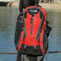 FREE  SHIPPING  Mountaineering bag backpack waterproof outdoor backpack travel laptop bag ride bag 40l