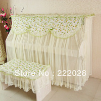Green piano cover piano cover piano dust cover twinset piano cover stool set Free shipping
