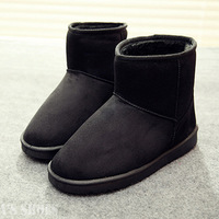 Autumn and Winter Thickening Plush Women's Shoes Low Thermal Velvet Snow Boots