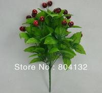 "8Pcs 42cm/16.54"" Length Artificial Fruits Simulation Cherries Bush Twelve Stems Floral Accessories Home Decoration Free Shipping"