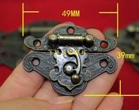 2014 Direct Selling New Freeshipping Antique Wooden Wine Box Hasp Lock Buckle Alloy Drawer Hinge Decorative Safety Clasp