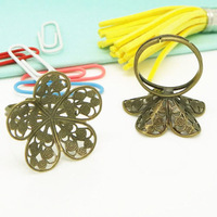 Copper trumpet flower ring pallet 24mm ring 19mm diy accessories