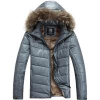 2013 Winter Brand Men Down Coats Man Windproof Hooded Jacket Coat Warm Park Parkas Big size Fashion Sportswear, Free shipping