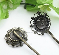 Antique brass flower word hairpin flower-shaped is clip copper is ferroguinous unique vintage hairpin