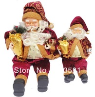 Free shipping Christmas decorations Christmas gift decoration Upscale sitting Santa Claus( Small)