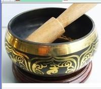 wholesale Unusual Tibetan Bronze Diameter 130mm GLORIOUS OLD YOGA RARE TIBETAN SINGING Singing Bowl