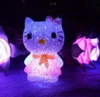 Crystal HELLO KITTY nightlight kt nightlight colorful small night light