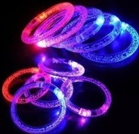 Acrylic glow bracelets flash hand ring luminous crystal colorful bracelet concert supplies