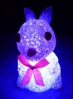 Crystal colorful rabbit magic crystal rabbit small night light colorful rabbit crystal night light electronic night light