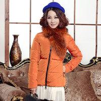 Slim short design super large Women fur collar down coat