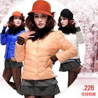 2012 autumn and winter women raccoon fur lace thread slim short design o-neck