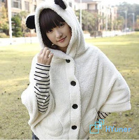 Sweet Cute Bears Ears Hot Cape Casual Girls Loose Natural Fashion Fleece Women Outerwear Hoodies